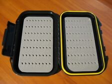"Floating Fly Fishing Lure Tackle Case Box & Foam Inserts / Black 5 1/2"" x 3 1/2"""