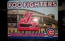 Foo Fighters Bobblehead Set Sealed Wrigley Field Chicago Cubs pop up store