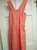 Orange Hot Pink Sundress by Mud Pie, Size Small, NWT