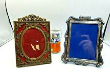 Lovely Vintage Silver Plated & Brass Photo Frames X 2