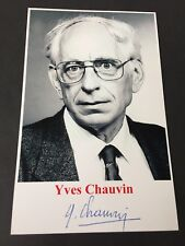 Yves Chauvin †2015 Nobel Prize Chemistry 2005 signed photograph 3.8 x 6