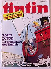 b)TINTIN du 22/09/1981  N°38; La promenade des Anglais/ Hit parade 81