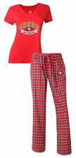 San Francisco 49ers Medalist Ladies T-Shirt and Flannel Pants Sleep Set