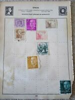 Spain Vintage Stamp Collection - Extracted from Stanley Gibbons Album 29th