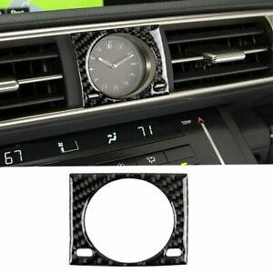 Carbon Fiber Car Center Console Clock Cover Trim For LEXUS IS250 IS350 2014-2018