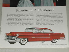 1955 Cadillac ad, Sedan De Ville