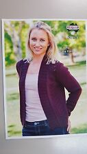 Heirloom Knitting Pattern #420 to Knit Ladies Cardigan in Easy Care 8 Ply Yarn