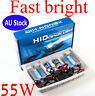 55W  230 FAST BRIGHT QUICK START H7 6000K AC SLIM XENON HID KIT HEADLIGHT BULB