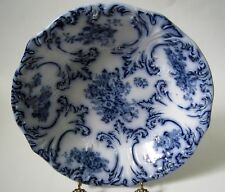 Vintage Wood & Son Flow Blue Bowl Trilby Pattern Flowers Embossed Leaves