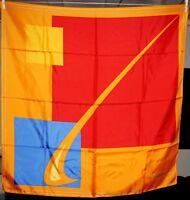 Foulard carré de soie publicitaire PROMO CADEAUX neuf 88 cm x 86 cm