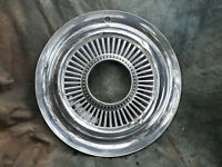 """1 OEM 60-80's JEEP 15"""" STAINLESS STEEL ALL METAL HUBCAP 4X4 open hole nice!!"""