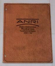 Anri Collector's Guide Book - Woodcarvings 1983-84 - 114 pages of colored photos