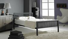 Boston Double 4ft 6inch Metal Frame Bed In Black  ** FRAME ONLY **