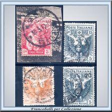 1915 Regno Croce Rossa Serie completa n 102/105 Usati