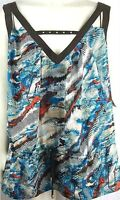 NWT BABY PHAT Sultry Nomad Multi-Color V-Neck Embellished Top  Sz: 2X