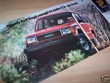 Prospectus / Sales folder brochure ISUZU Trooper II 1988 //