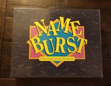 1992 NAME BURST Who's Who Party Game - NAMEBURST - New in Sealed Box** Bargain!!