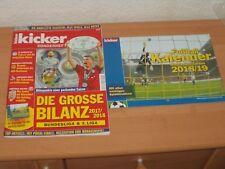 Kicker Sonderheft 2018 + Fußball Kalender 2018/2019 Mit allen wichtigen Spielen!