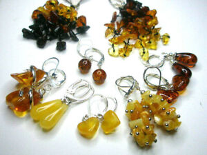 NATURAL BALTIC AMBER EARRINGS - CHOOSE YOUR EARRINGS