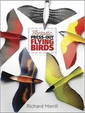 FANTASTIC ~ PRESS-OUT ~ FLYING BIRDS ~ FULL COLOR PAPER BIRD MODELS ~ SC ~ NEW