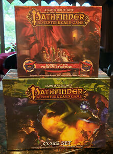 Paizo Pathfinder Adventure Card Game - Core Set + Curse Crimson Throne Expansion