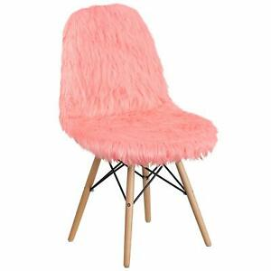 Flash Furniture Shaggy Dog Hermosa Pink Accent Chair [DL-12-GG] New
