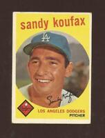 1959 TOPPS #163 SANDY KOUFAX  DODGERS