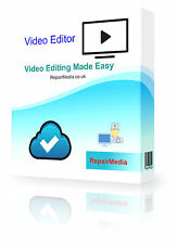 Edición De Vídeo software Grabar Trim Corte Split fusionar Girar Y Mezclar Videos Pc Dvd
