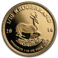 2016 South Africa 1/10 oz Proof Gold Krugerrand - SKU #97944