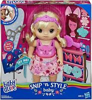 Baby Alive Style n' Snip Baby (Blonde) Officially Licensed NIB/Sealed