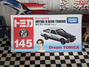 TOMICA #145 INITIAL D AE86 TRUENO SCALE NEW IN BOX DREAM TOMICA SERIES