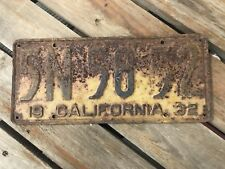 American Licence Plate USA Diner Sign Bar Cave Art California 1932