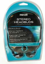Maxell HB-202 Stero In Ear Headbuds Headphones 190317 for CD, MP3, iPod, iPhone
