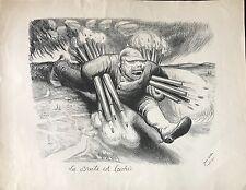 """VEBER JEAN """"LA BRUTE EST LACHÉE""""  1914"""