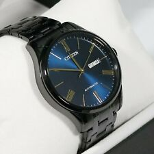 Citizen Automatic Black Stainless Steel Blue Dial Men's Watch NH8365-86M
