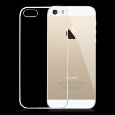 Ultra Thin Transparent Soft Silicone Rubber Back Case Cover Skin For iPhone SE