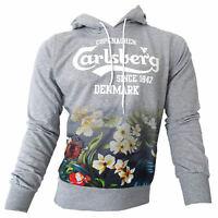 Felpa maglia Carlsberg Uomo Men 100% cotone fantasia Grigio Grey CBU2605