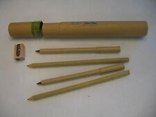 Logomark Eco Wooden Pencils and Pens with case and pencil sharpener - New