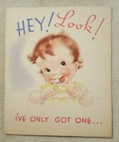 Vintage Rust Craft Greeting Card One Tooth Happy Birthday