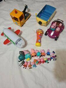 Peppa pig toy bundle plane car truck camper van please read