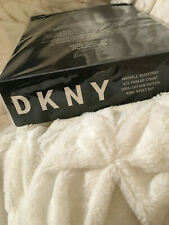 New Dkny Wrinkle Resistant 425 Tc 100% Cotton Xdeep King Sheet Set - White