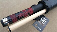 New VooDoo Pool Cue - VOD24 'Doomed' Unlucky 8 Black With Skulls LEATHER WRAP!