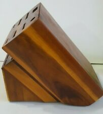 Paula Deen 16 Slot Acacia Wood Knife Storage Block