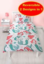 DISNEY PRINCESS LITTLE MERMAID ARIEL SINGLE DUVET QUILT COVER SET GIRLS KIDS BED
