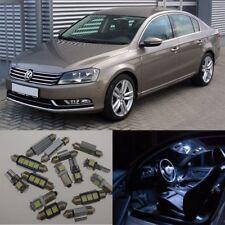 13×Xenon White Error Free SMD Interior LED Light Kit For VW Volkswagen Passat B7