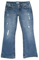 Aeropostale Womens Jeans Hailey Skinny Flare Distressed Cotton Junior Size 7/8 S