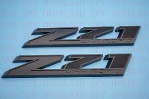 2 Pcs OEM Z71 OFF ROAD Emblem for GMC Silverado Sierra Truck Matte Black