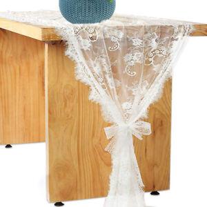 Tischläufer Tischband Spitze Tischdeck Hochzeit Dekor 70x300cm Spitzendecke LQ