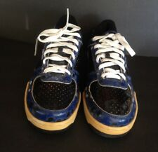 PRO-KEDS LOW SNEAKERS PM 1477 ROAYL COURT BLUE SKULL DESIGN SIZE 10 PRE-OWNED