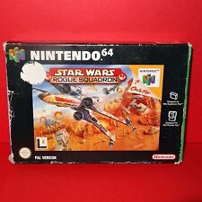 VINTAGE 1998 NINTENDO 64 N64 STAR WARS ROGUE SQUADRONE CARTUCCIA VIDEO GAME BOXED